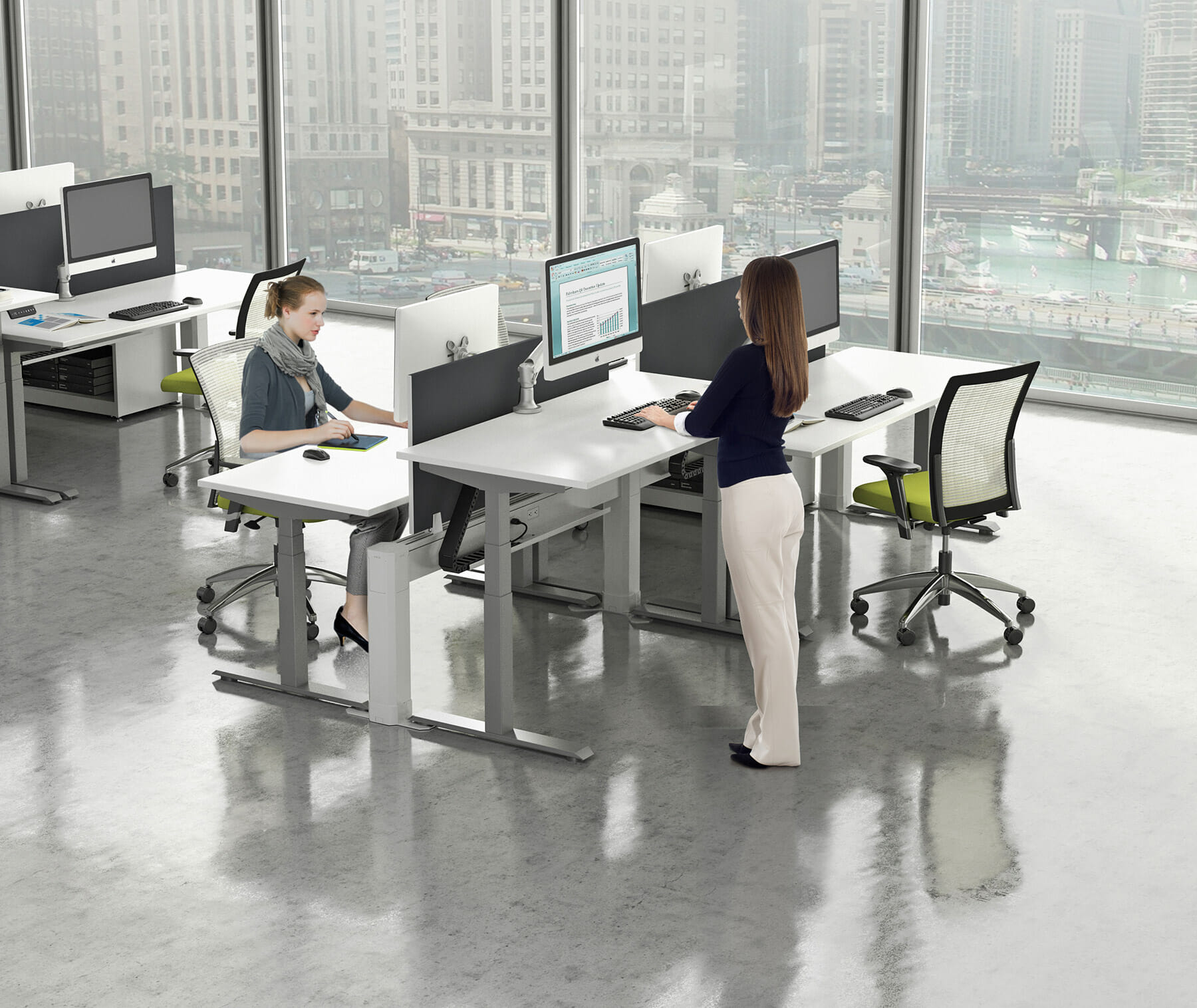 Sit Stand Desk- Wells and Kimich