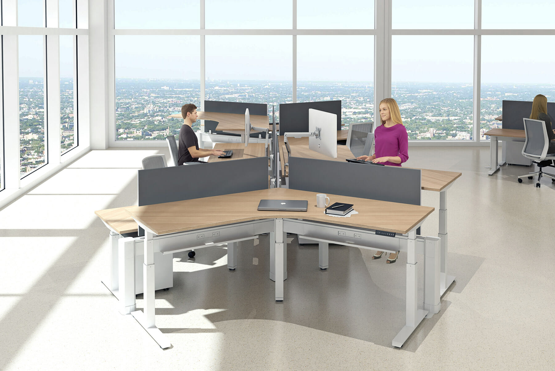 Height Adjustable Desks - Wells and Kimich